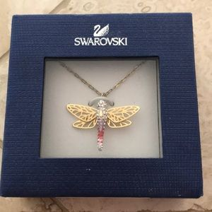 Swarovski crystal dragonfly necklace